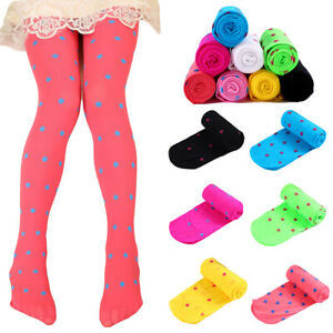 Children-s-Cute-Polka-Dots-Tights-Girls-Soft-Comfortable-Elastic-Pantyhose