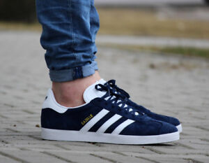 ADIDAS-ORIGINALS-GAZELLE-NAVY-WHITE-NUBUCK-CLASSIC-MENS-SHOES-BB5478-NEW