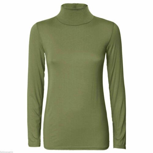 Ladies Turtle Polo Con Colletto Top Da Donna Maniche Corte Collo Alto T-shirt Taglia più 8-26