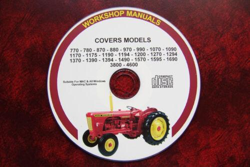 Taller reparación Manual de servicio Carcasa 24 modelos cubiertos en manuales David Brown