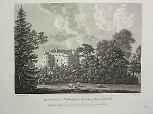 1779 DATED PRINT ~ PICTON CASTLE IN PEMBROKESHIRE ~ THE SEAT OF LORD MILFORD