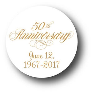 Image Is Loading 50th Wedding Anniversary Party Favor Stickers  Personalized With
