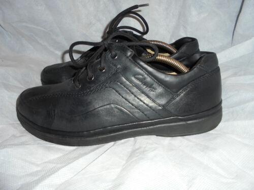 Vgc 9g hommes Uk lacets de en noires Eu Clarks 43 taille pour à Chaussures cuir Y6qwSS