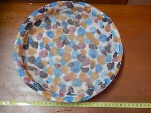 Vecchio piatto sottovaso della ceramica vietrese vintage d epoca