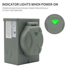 Outdoor Use Rv 30a Generator Power Inlet Box With Led Light Nema L5 30p 3750 Watts