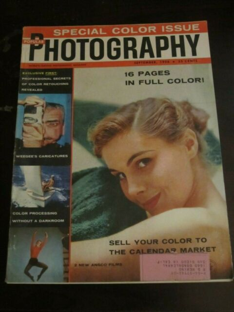 Popular Photography Magazine September 1956 Sell Your