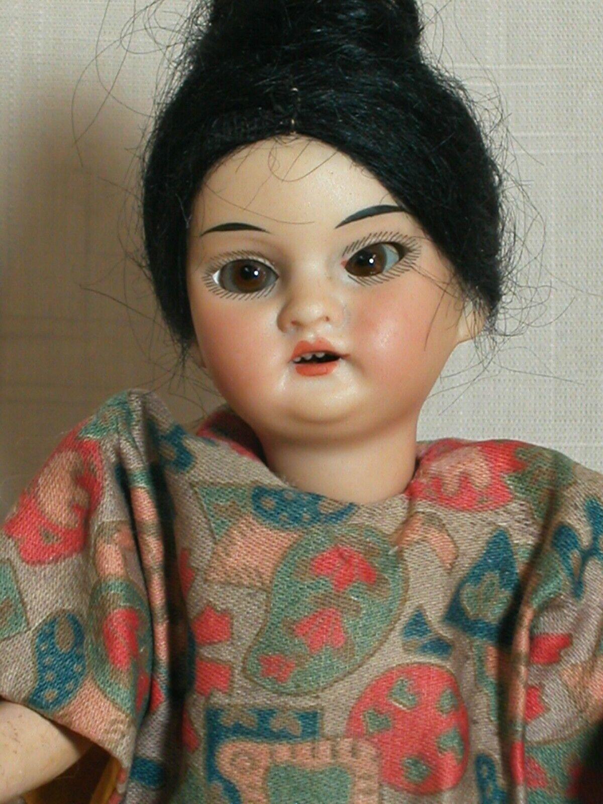 Rare Antique A. M. Oriental Girl  bambola   Original Oriental Composition corpo   9   acquista online oggi