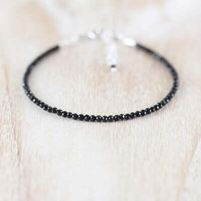Black Tourmaline Bracelet Jewelry Gift Cttw 231