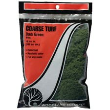 NIB Woodland Scenics 65 Coarse Turf Dark Green 18 cu.in