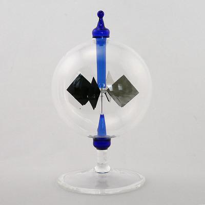 Lichtmühle Solar Radiometer stehend hoher Fuß 80 mm Violett