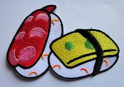 CUTE PRETTY SUSHI JAPANESE FOOD Embroidered Iron on Patch Free Postage