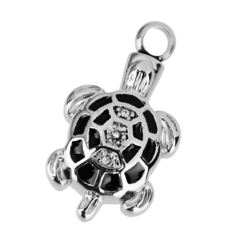 Cremation Urn Pendant Silver Metal Memory Jewelry For Funnel Ash Necklace//Funnel