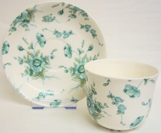 Eden EMERALD Grande Tasse & Soucoupe Porcelaine Vert Petit Déjeuner Set Main Décoré UK