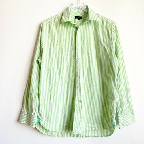 Lilly Pulitzer Shirt Men's Via Palm Beach Green Wh