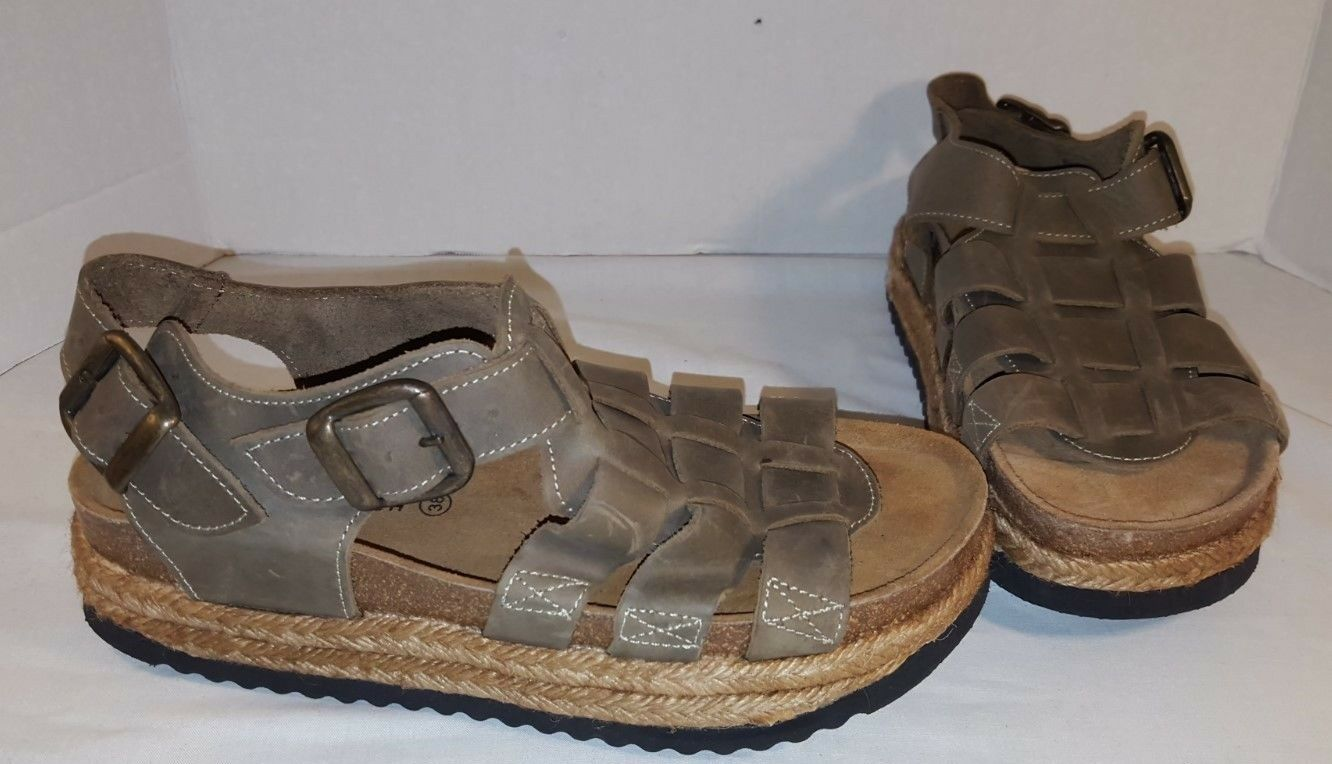 NEW CAMPBELL JEFFREY CAMPBELL NEW TAN LEATHER SANDALS  Schuhe WOMEN'S SIZE 8 87972b