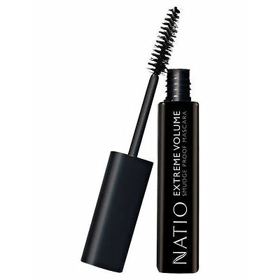 NEW Natio Mascara Extreme Volume Black Black/Black Brown