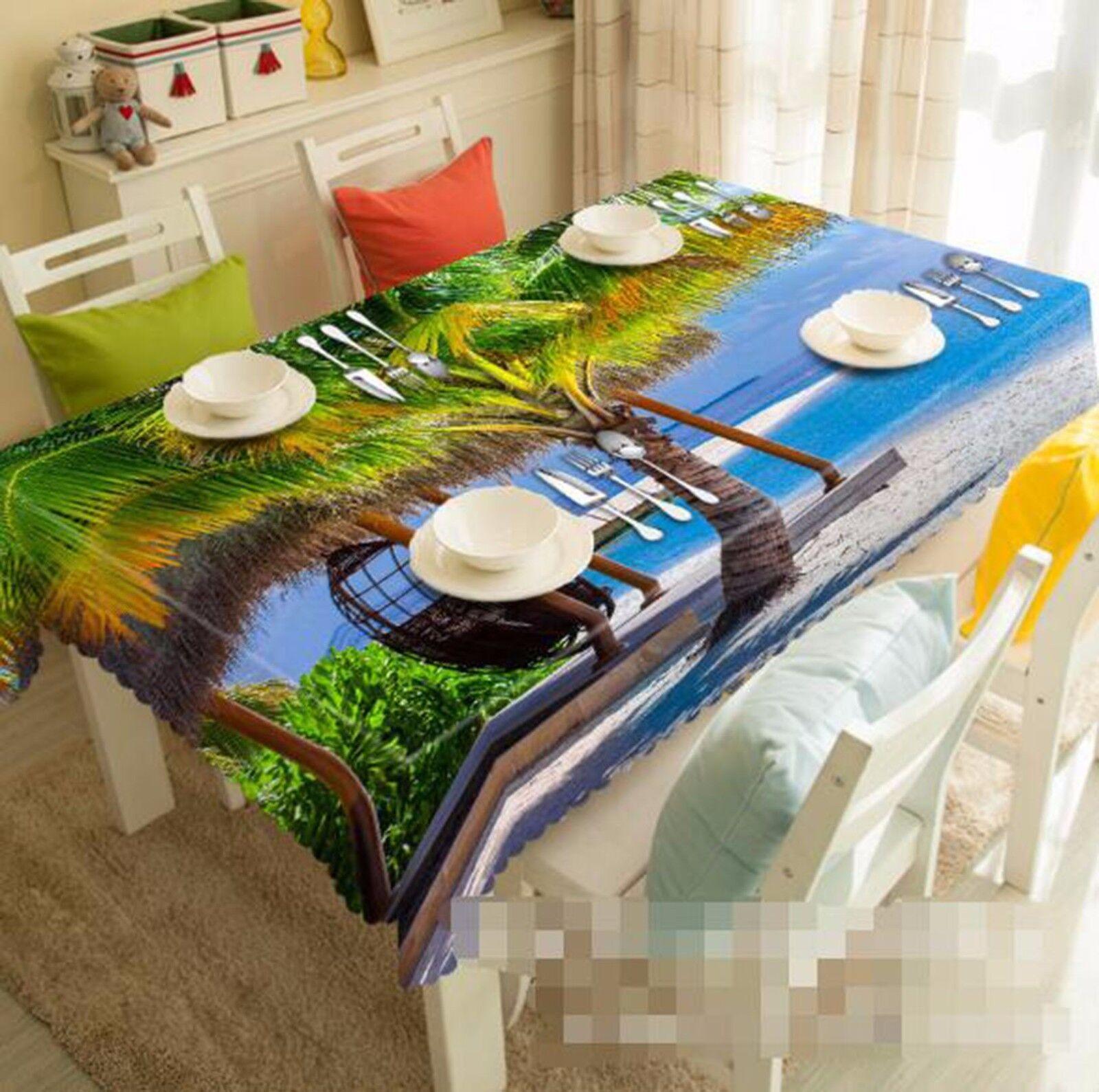 3D arbre ciel 5 Nappe Table Cover Cloth fête d'anniversaire AJ papier peint Royaume-Uni Citron