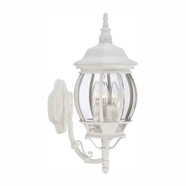 Light White Outdoor Wall Lantern Sconce
