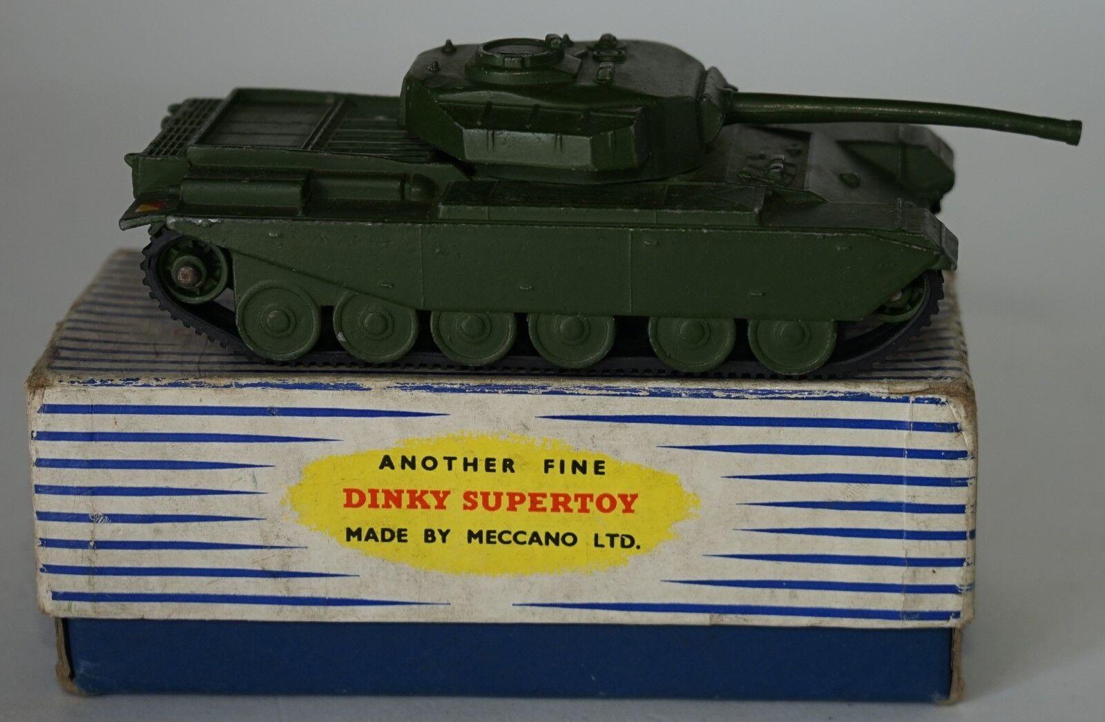 Vintage Dinky Tanque Centurion militar súperJuguetes 651 En Caja