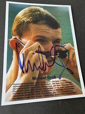 MICHAEL GROß 3 x Olympiasieger 1984/88 Schwimmen signed Foto 13x18 Autogramm