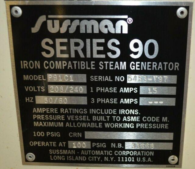 Sussman P91c1 Ser 90 Iron Compatible Steam Generator For Sale Online Ebay