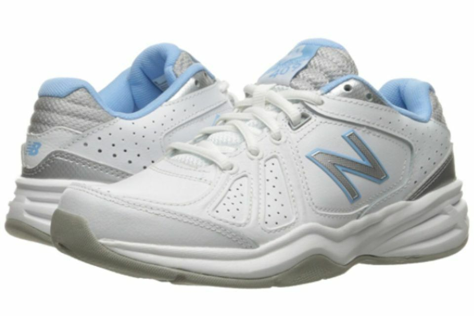 NEW BALANCE WX409WB3 WHITE blueE WOMENS RUNNING SHOES