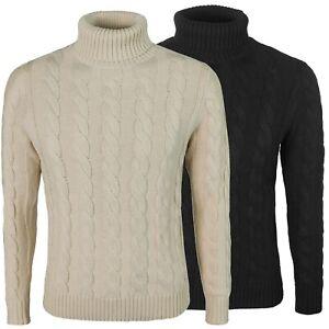 Maglia-uomo-invernale-collo-alto-maglione-intrecciato-pullover-beige-nero-grigio