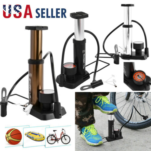 Portable Bicycle Pump Mini Ball Tire Foot Pump With Needle Head For MTB Soccer