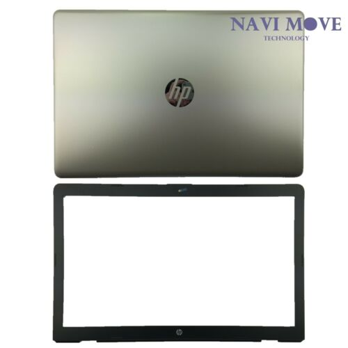 """Hp 17-BS 17.3/"""" Series Silk Gold LCD Back Cover Bezel 926483-001 926504-001 USA"""