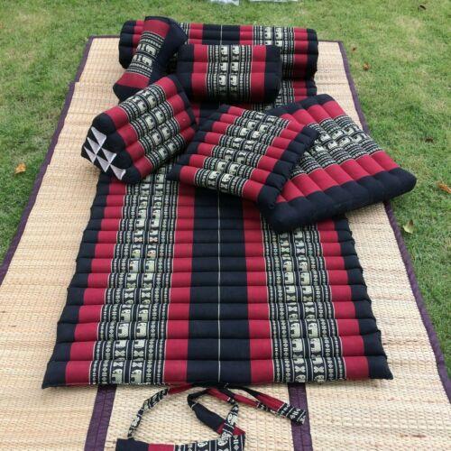 Thai Roll Up Mat Headest Pillow Bloster Yoga Meditation Zafu Cushion Kapok100/%