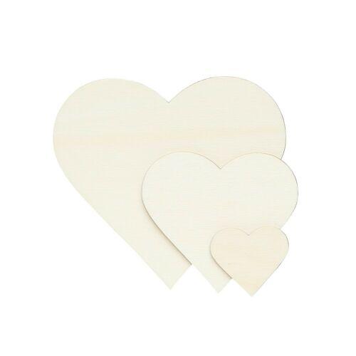 Herzen Sperrholz Zuschnitte Pappel 3mm Größenauswahl