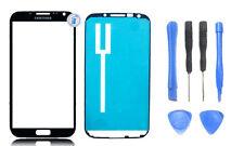 Touchscreen Front Glas für Samsung Note 2 N7100 Schwarz + Werkzeug + Klebefolie