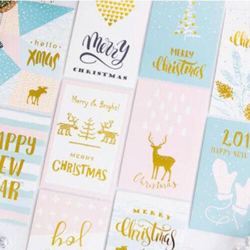 12 Feuilles//Set de cartes de voeux carte postale Noël Bronzage lettre carte cadeau g