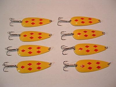 4 Eagle Bay Hmrd Orange Fishing Lures 3//4 oz Pike Muskie Trout Salmon  USA MADE