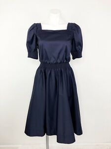 NWT-Gal-Meets-Glam-Anastasia-Dress-Navy-Square-Neck-Fit-amp-Flare-Dress-Size-2