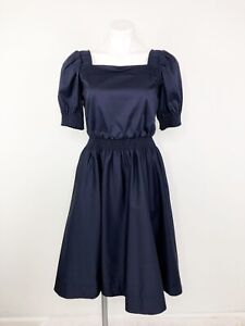 NWT Gal Meets Glam Anastasia Dress Navy Square Neck Fit & Flare Dress Size 2