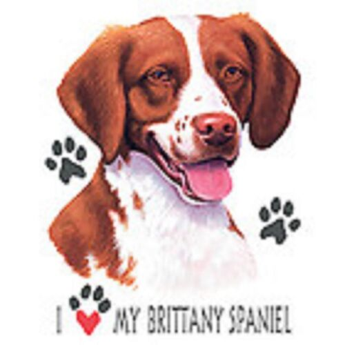 Brittany Spaniel Love Crew Sweatshirt Pick Your Size Small -5 X Large