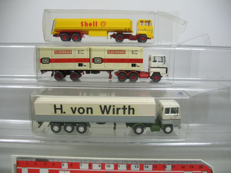 Ai712-0, 5 X Wiking H0 Lorry Ford  H. BY WIRTH + Shell + DB   Federal Railway