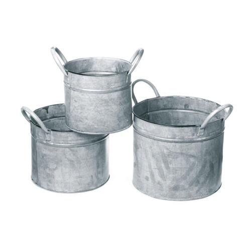 3er Pack dio Only for You Eimer Zink gewaschen weiß