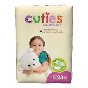 Cuties Baby Diaper Size 6 Over 35 lbs. CR6001 23 Ct
