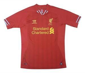Liverpool 2013-14 ORIGINALE Maglietta (OTTIMO) M SOCCER JERSEY