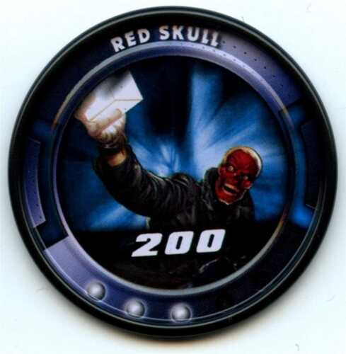 CA35 Red Skull #37 Of 84 Marvel Slingers 2011 Upper Deck Metal Medallion