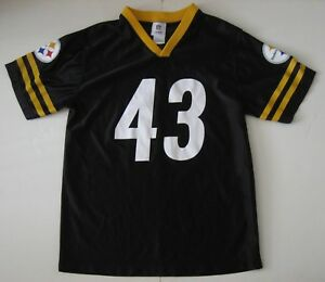 on sale e86b4 cfcc7 Details about XL (16-18) Youth NFL Troy Polamalu Pittsburgh Steelers  Football Jersey Black EUC