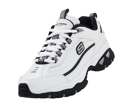 intelectual Sophie débiles  Skechers Men's Energy Afterburn Lace-Up Sneaker White/Navy 10.5 XW US | eBay