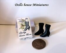 BOXED VINTAGE STYLE  BOOTS FOR THE DOLLS HOUSE