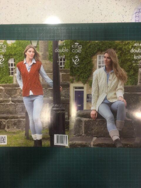 KCP-4078 King Cole Ladies Cardigans Shine Knitting Pattern 4078 DK