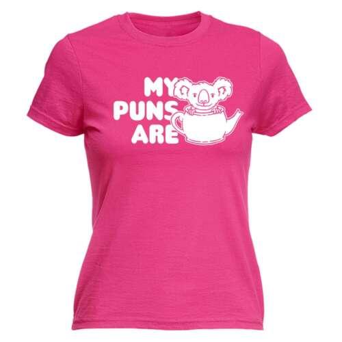 Drôle Femme T Shirt Mon lapsus sont Koala Thé Animal Ajusté T-Shirt T-shirt anniversaire
