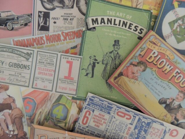 Lot of 12 Vintage MENS SPORTS CARS BOXING Die Cuts CRAFTING | M4 | MAN MEN