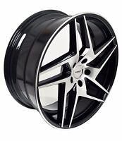 4 Gwg Wheels 20 Inch Black Razor Rims Fits 5x120 Bmw 3 Series 2 Door (e92) 2007
