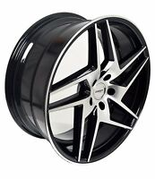 4 Gwg Wheels 20 Inch Black Razor Rims Fits 5x114.3 Ford Taurus Limited 2010-2016